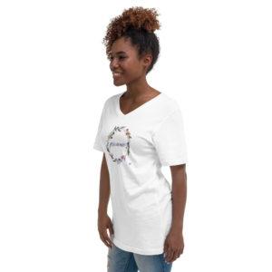 T-shirt Col V Précieuse